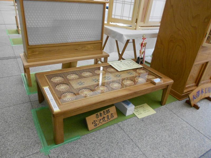 こたつ 展示会出品作品 座卓・テーブルにも製作出来ます