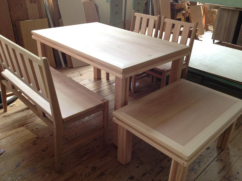 ダイニングテーブル 椅子 ベンチ ローテーブル セット